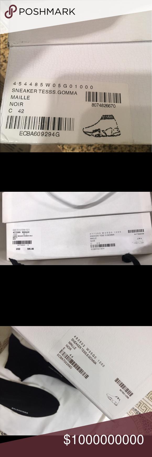 Authentic vsfake Balenciaga shoe box