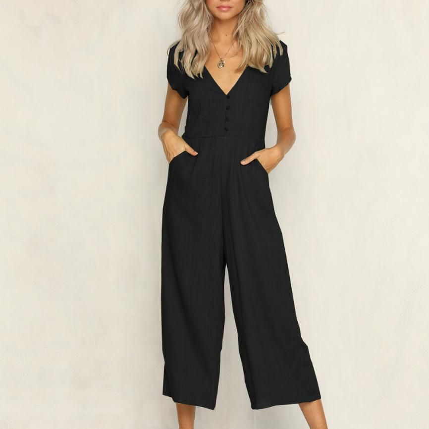 Women Ladies Summer Floral V Neck Strappy Playsuit Holiday Jumpsuit Romper Size