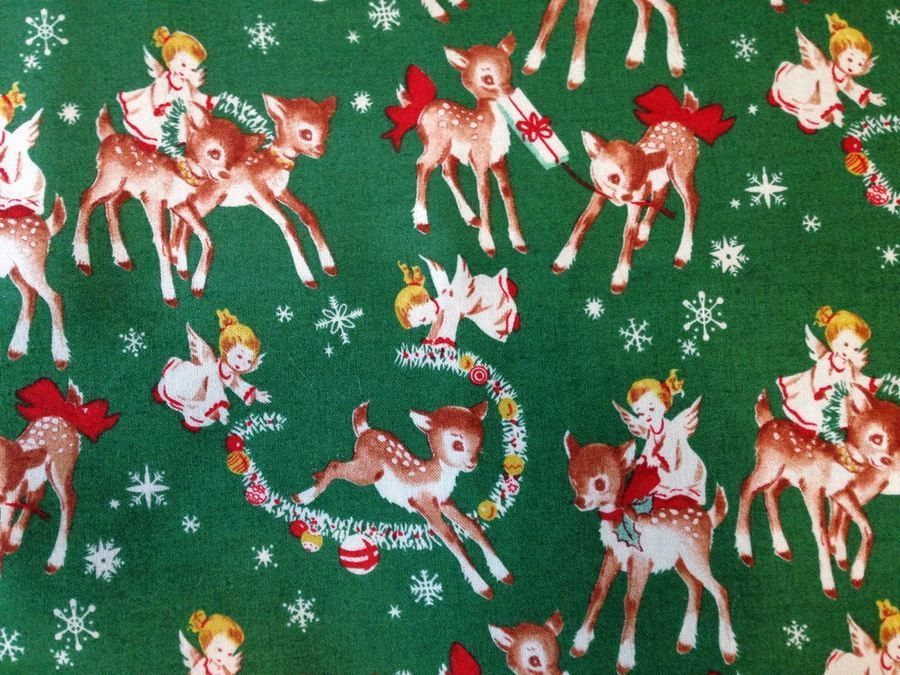 Retro Christmas Fabric | Finally, we have this Retro Angel ...