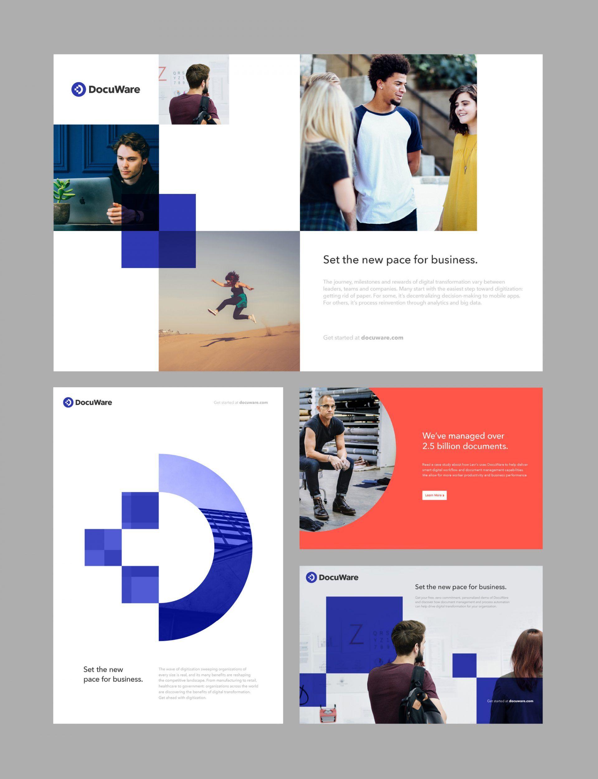 Docuware Logo Rebrand Brand Design Direction 33 Identity Design Logo Branding Agency Digital Graphic Design