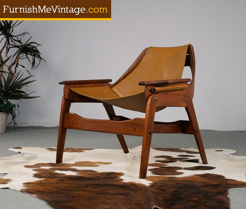 Restored Mid Century Modern Jerry Johnson Sling Chair.