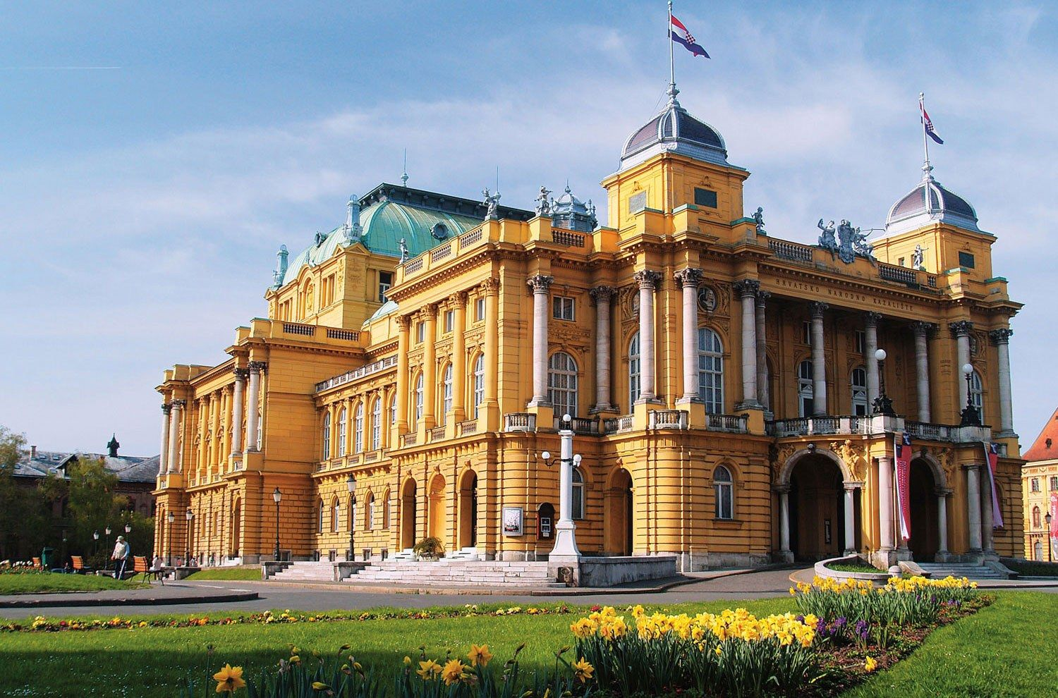 Croatian National Theatre In Zagreb Is A Theatre Opera And Ballet House Lobagolabnb Zagreb Visit Croatia Love Croatia Zagreb Croatia City