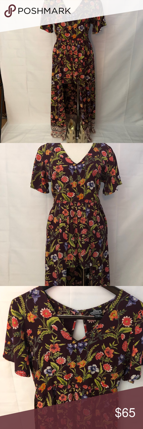 09de46742916 Angie Floral Maxi Romper Dark Maroon. Size Large Just in time for music  festival season