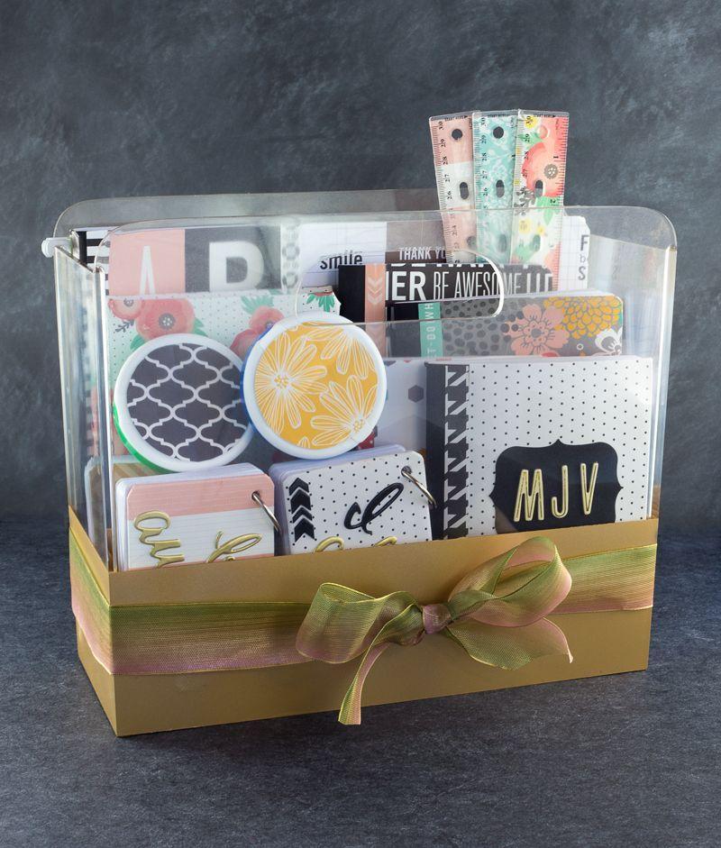 Diy college school supplies gift basket college school for Idea diy door gift