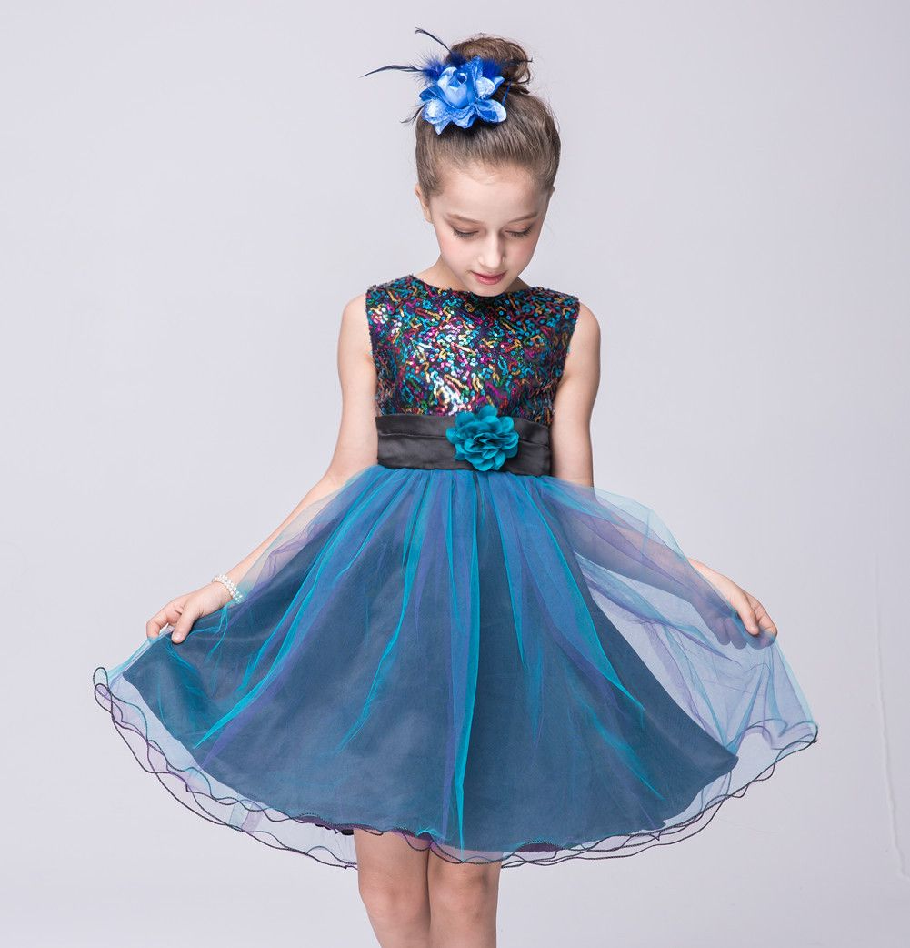 fc0cf6c76a Autumn&summer party girls show dress for girl 2-13 year kids fashion ...