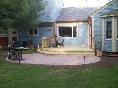 Deck And Patio Combination