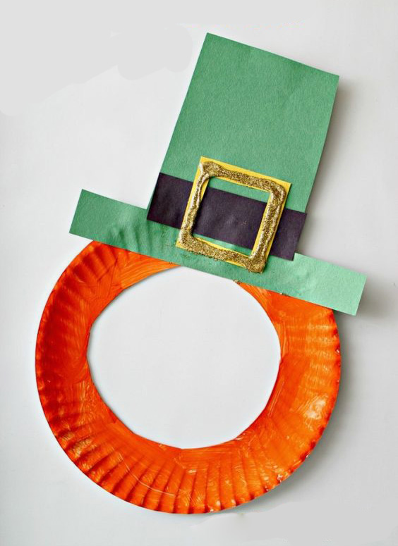 St Patrick S Day Leprechaun Paper Plate Mask Craft For