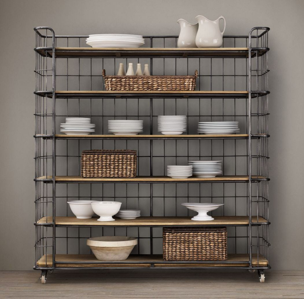 restoration hardware cage shelves