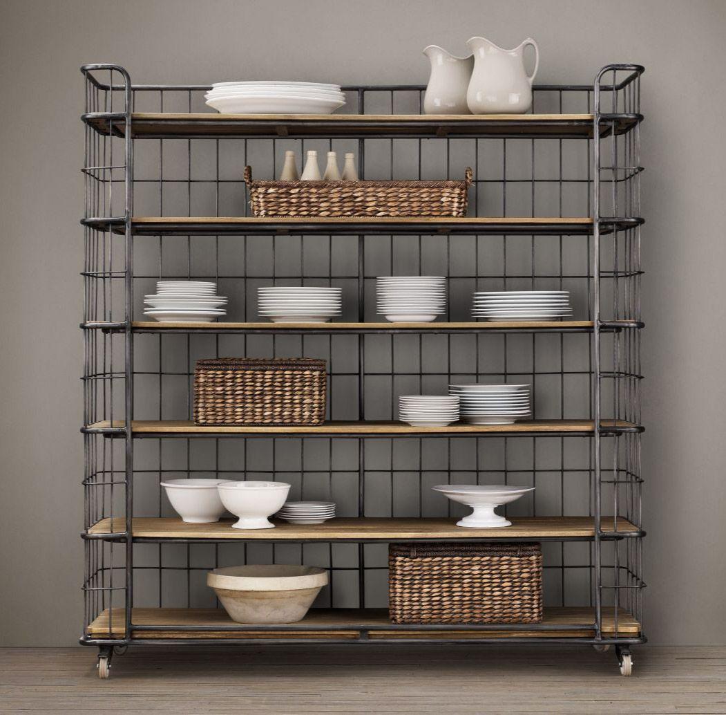 restoration hardware cage shelves