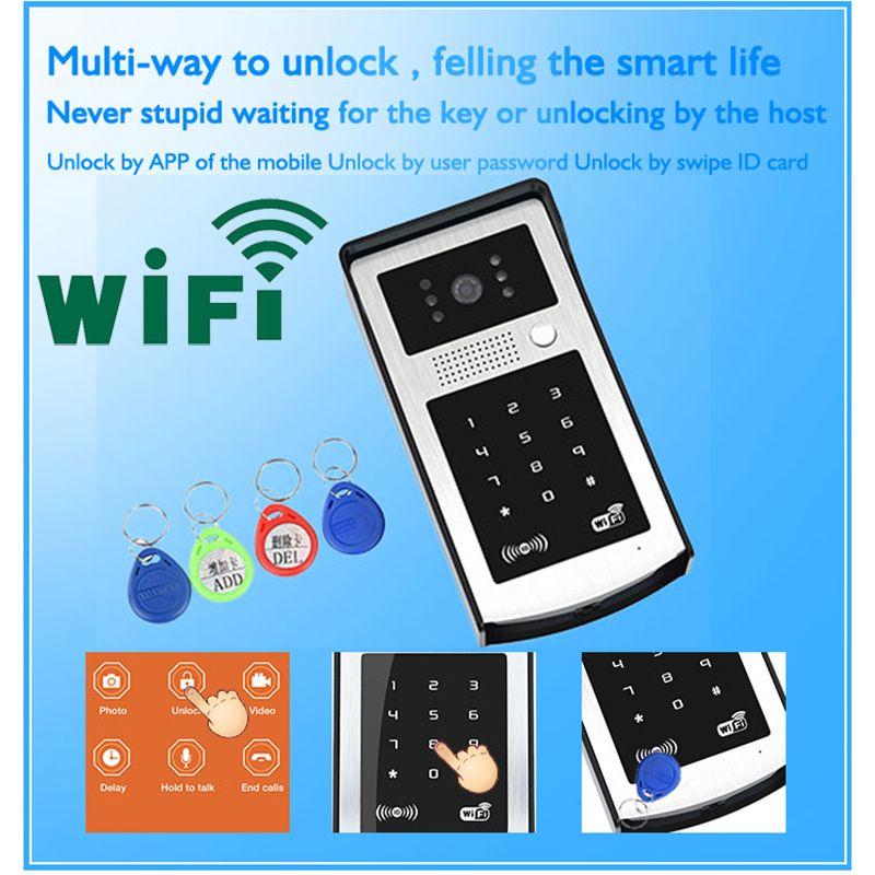 Android iso app wifi video door phone rfid code keypad