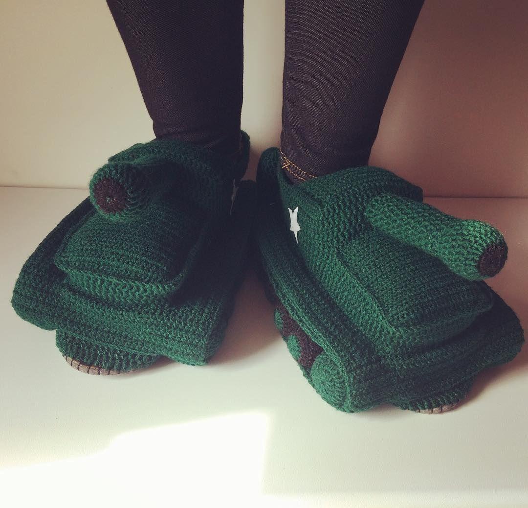 Crochet Tank Slippers Crochet Crocheter Crocheters