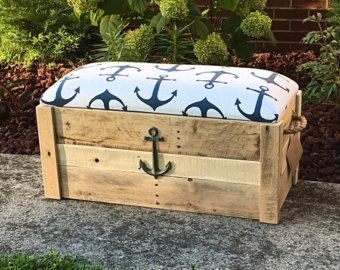 Tremendous Toy Box Nautical Anchor Hope Chest Storage Bench Caraccident5 Cool Chair Designs And Ideas Caraccident5Info