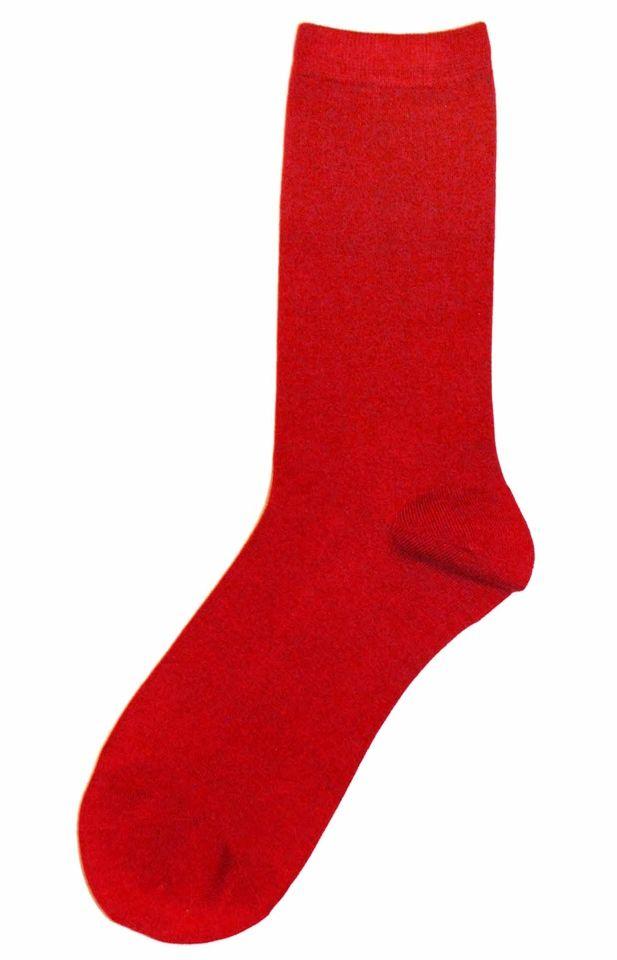 Tango Red Solid Color Mens Bamboo Dress Socks - Frank Dandy