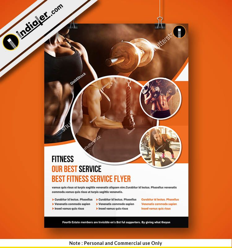 free women fitness flyer psd template gym fitness flyer template