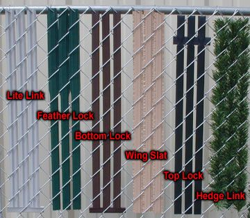 Various Options In Privacy Slats For Chain Link Fence