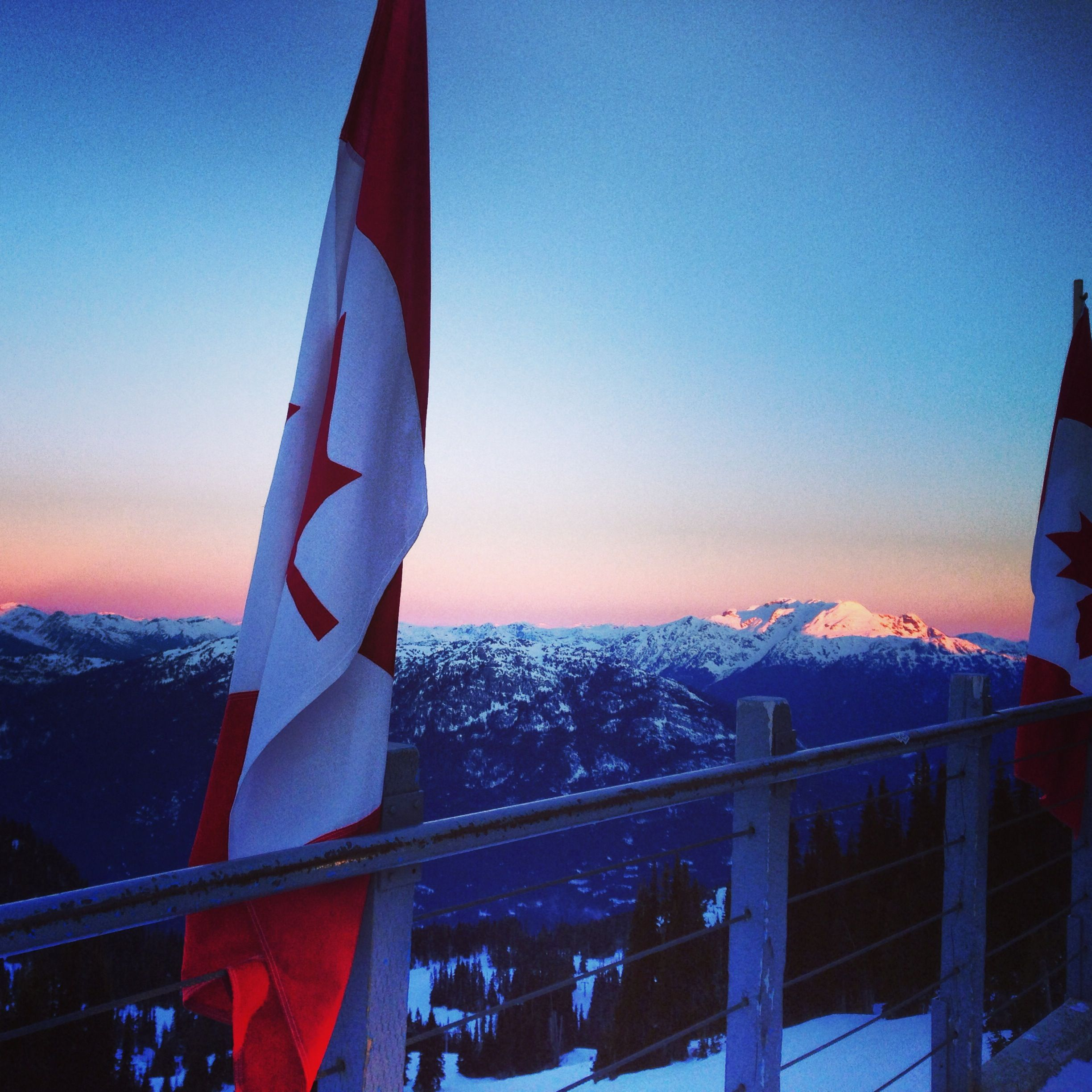 Watching the sunrise at fresh tracks on Whistler mountain. A must do while visiting the resort town!