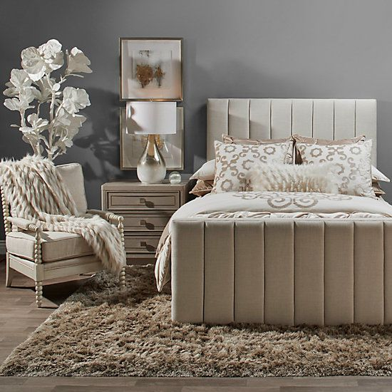 hadley bed with channeled footboard  prague ari bedroom