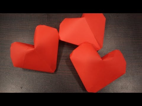 Photo of Origami puffy heart.