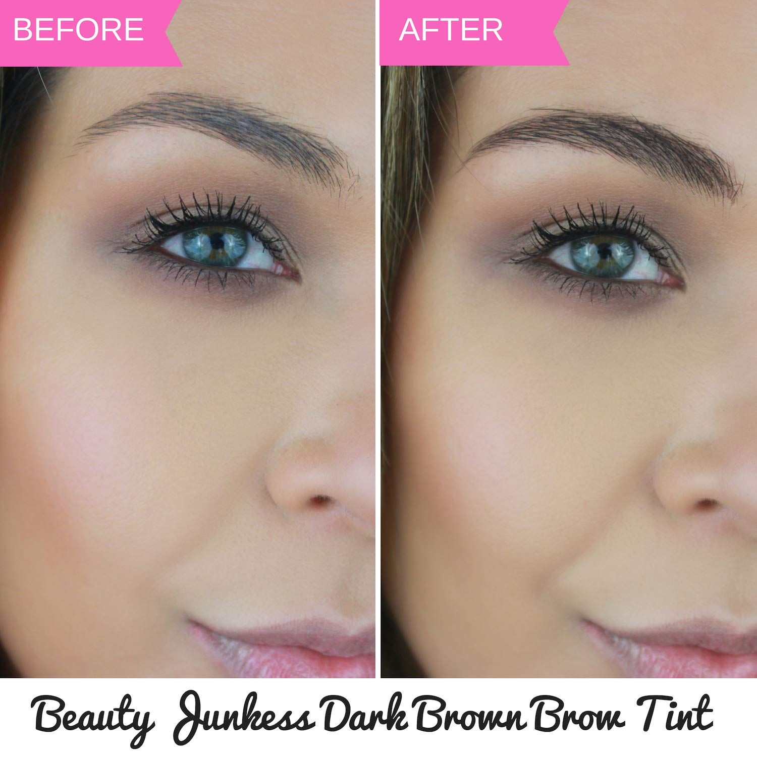 Image result for brow tint before and after | Brow tinting ...