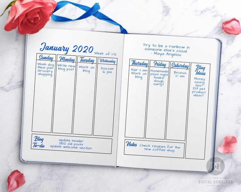 2020 Bullet Journal Printable 2020 Journal  Starter Kit 2020 | Etsy