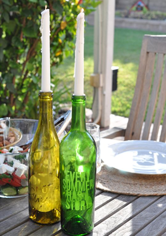 Glass Bottle Decorations 24 Creative Ways To Repurpose Your Empty Wine Bottles  Wine