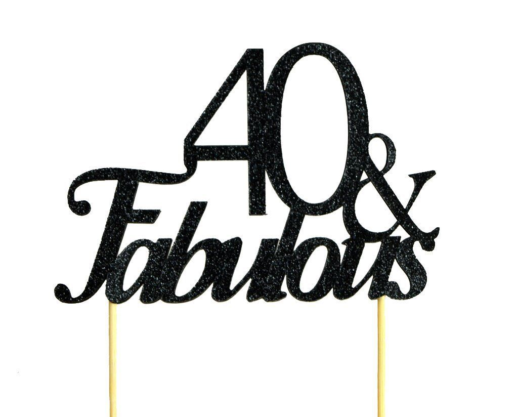 Black 40 and Fabulous Cake Topper >>> Don't get left behind, see this great product offer  : Baking decorations