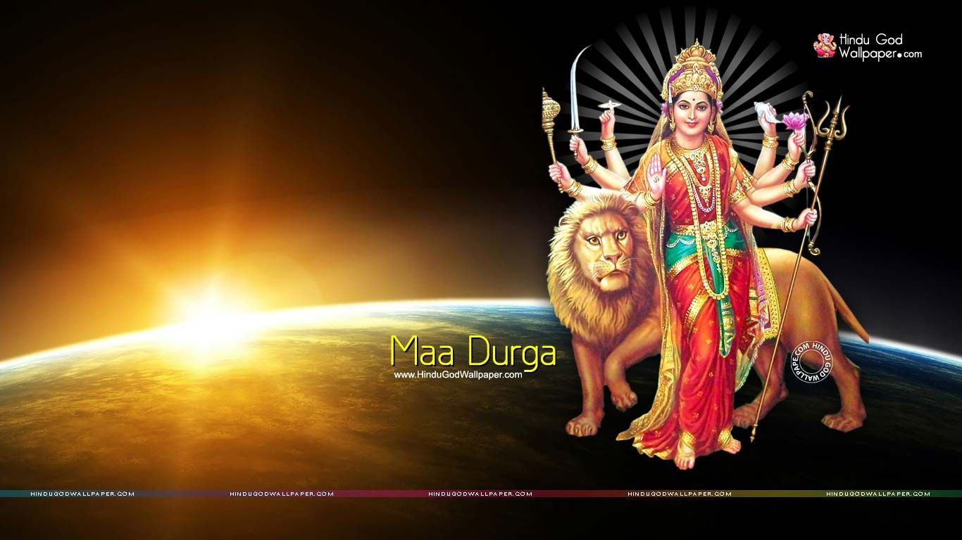 maa durga hd wallpaper 1366x768 sanjeev in 2018 pinterest maa