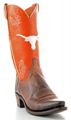 Mens Lucchese University Of Texas Boots Nc1510 Via