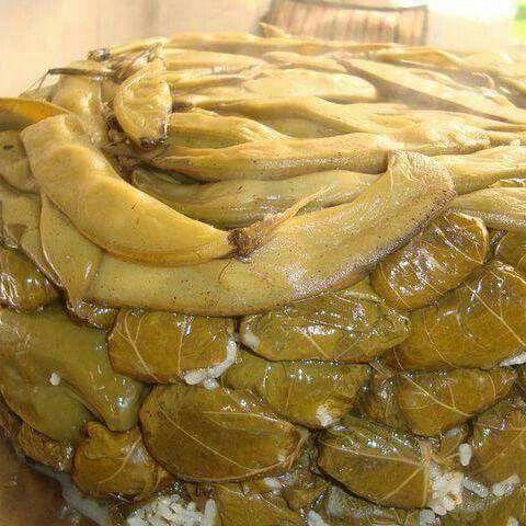 Iraqi Stuffed Grape Leaves دولمة عراقية Food Stuffed Grape Leaves Vegetarian Recepies