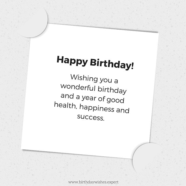 Following protocol formal birthday wishes happy birthday wishing a wonderful year of good health happiness and success happy birthday m4hsunfo