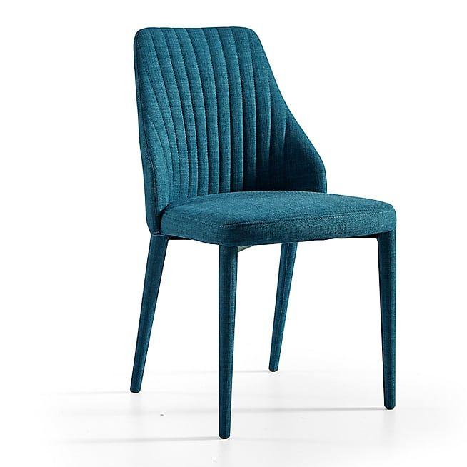 79 Euros Alinea Anemone Chaise En Tissu Bleu Chaise Design Pas Cher Chaise Design Chaise