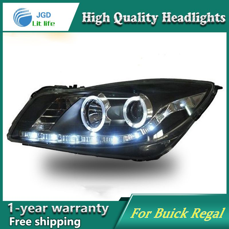 Car Styling Head Lamp case for Buick Regal Headlights 2009-2013 LED ...