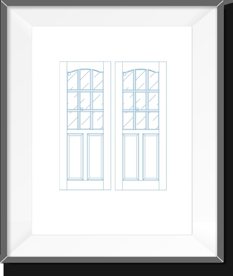 Door Design 08-Real Pen Drawing by Blueprints Art | Blueprints Art