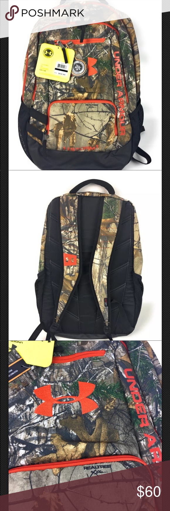 506396ba73 Under Armour UA Camo Hustle Backpack New NWT PRODUCT DNA UA Storm  technology repels water without