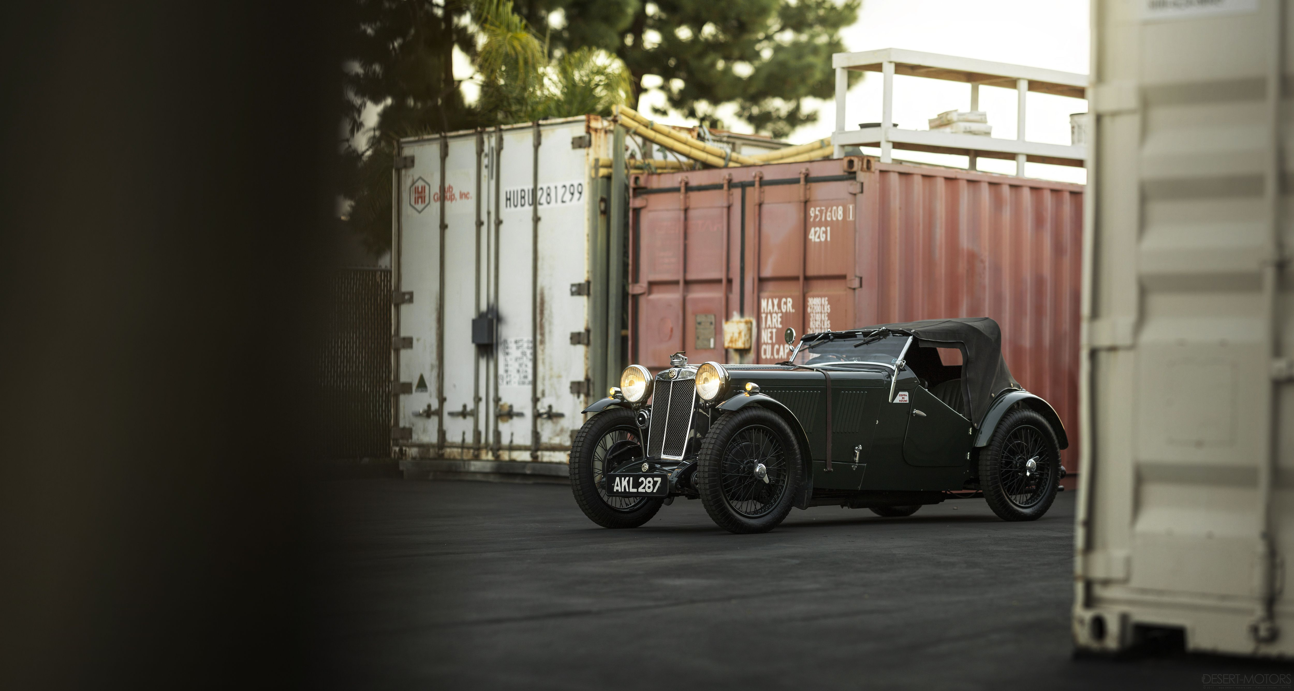 Actually kind of badass looking for a tiny 85 year old car. 1933 MG ...