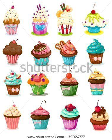 Cupcake Desenleri Cupkake Dekupaj Cam Boyama Cupcake