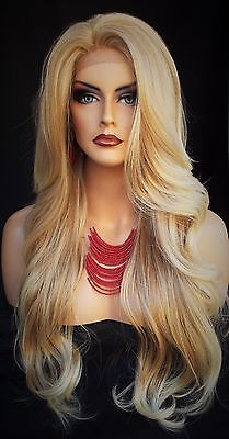 Lace-Front-Wig-CLR-T27-613-BLOND-LONG-FLOWING-WAVES-SEXY-FASTSHIP-US-SELLER-273
