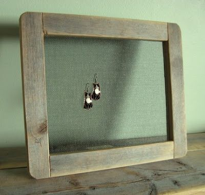 Put Some Screen Wire Inside A Barnwood Frame And Voila Earring