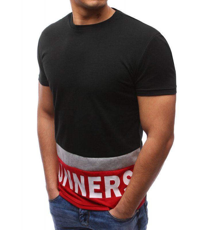 c62850994933 Pánska čierne tričko s potlačou