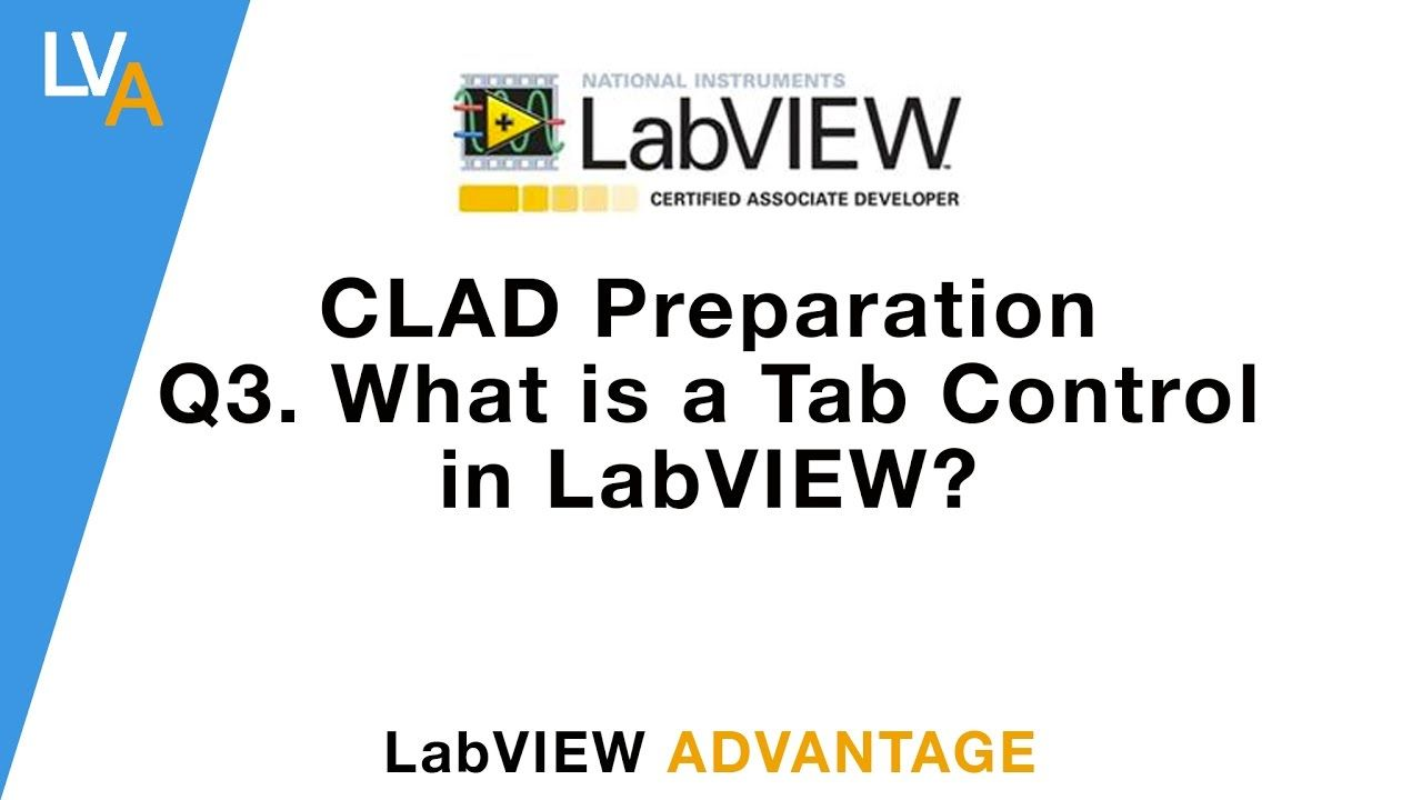 CLAD Preparation What is Tab Control in LabVIEW? | LabVIEW