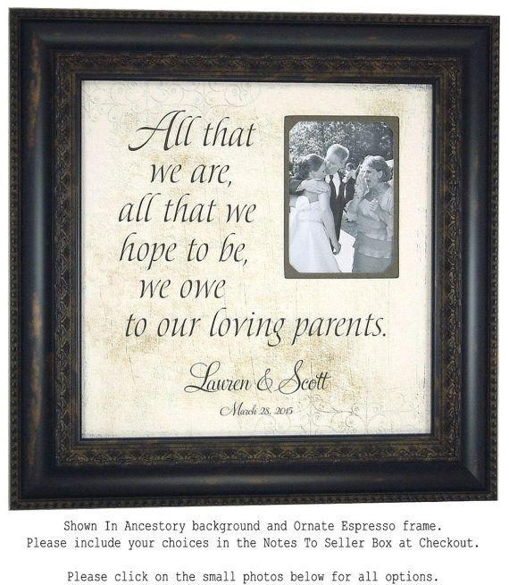 Wedding Photo Booth Prop Sign PARENTS Gift by PhotoFrameOriginals ...