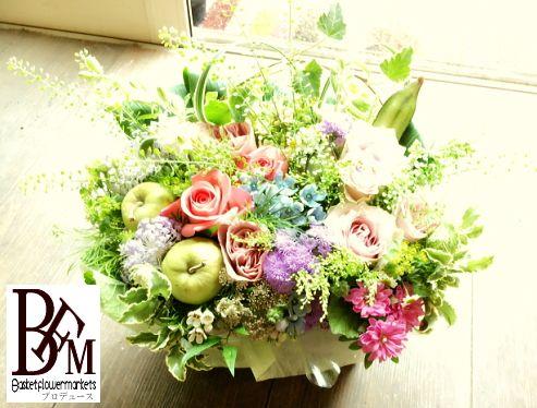 花ギフトのプレゼント【BFM】 ナチュラルで優しく清楚で そんなフラワーアレンジメント