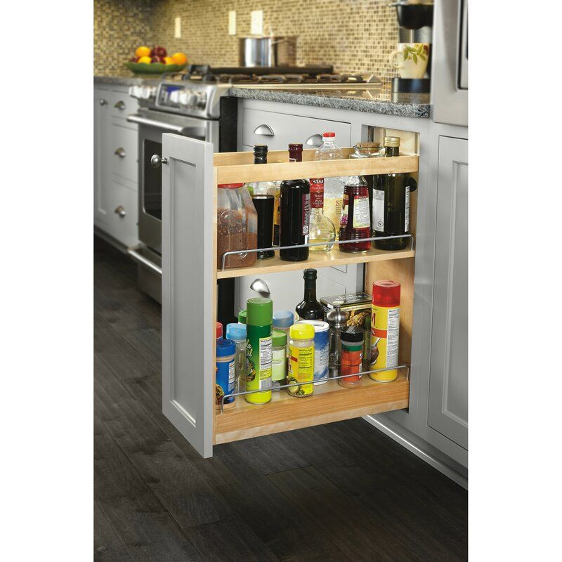 Soft Close Base Cabinet Organizer Pull Out Pantry In 2020 Cabinet Organization Kitchen Pulls Kitchen Credenza