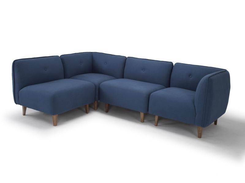 Best Large Modular Corner Sofa In Petrol Blue Linen By Calvers 640 x 480