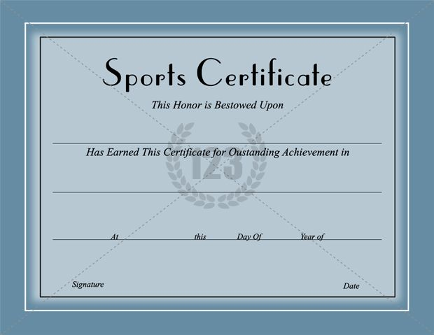 Award them with Best Sports Certificates Template for best - certificate border word