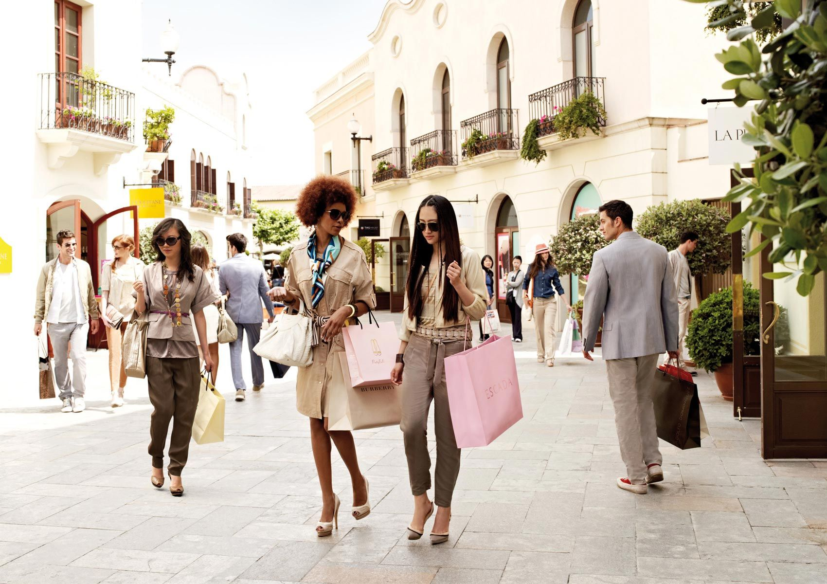 La Roca Village • La Roca Village- If you're a dedicated designer bargain-hunter, make the 30-minute pilgrimage just outside the city to La Roca Village. More than 50 discount outlets will tempt you with designer apparel from popular brands such as Antonio Miró, Versace, Diesel and Camper.