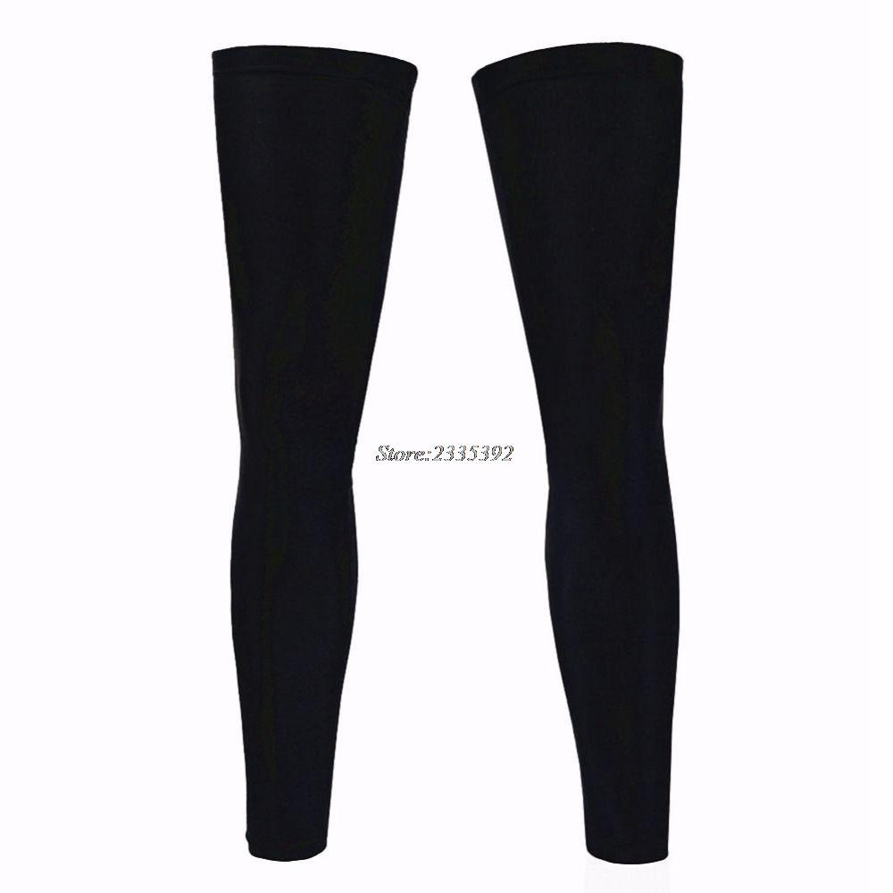Black White Bicycle Leg Warmers Knee//Arm Sleeves Anti-UV Covers Cycling Running