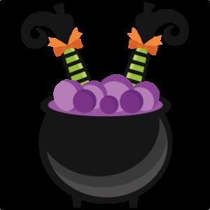 Witch In Cauldron Miss Kate Cuttables Halloween Crafts