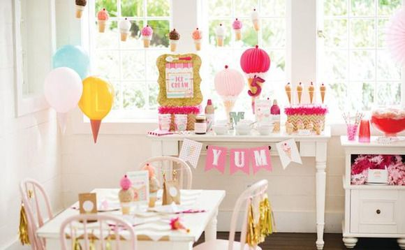 Decoraci n de cumplea os con helados inspiraci n e ideas for Ideas decoracion cumpleanos