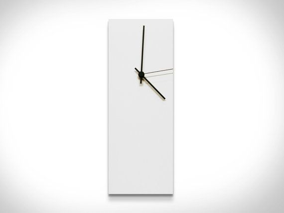 50 Off Modern Clocks Whiteout Black Clock Made In Usa